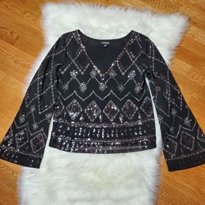 Express Blouse with Sequins